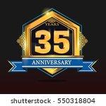 35 years anniversary shiny...   Shutterstock .eps vector #550318804