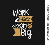 vector poster with phrase decor ... | Shutterstock .eps vector #550325590