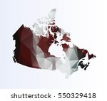 polygonal map of canada | Shutterstock .eps vector #550329418