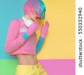 minimal fashion pop art.... | Shutterstock . vector #550332940