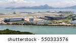 Hong Kong International Airport - Chek Lap Kok - off Lantau Island, aerial view