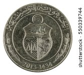 one tunisian dinar coin  2013 ... | Shutterstock . vector #550339744