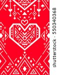 valentines card. mexican and... | Shutterstock .eps vector #550340368
