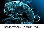 blue earth technology  business ... | Shutterstock . vector #550342933