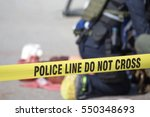 police line do no cross with... | Shutterstock . vector #550348693