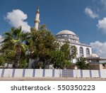 mosque on sunny summer day | Shutterstock . vector #550350223