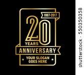 20th anniversary logo. vector... | Shutterstock .eps vector #550350358