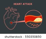 heart attack logo vector icon... | Shutterstock .eps vector #550350850