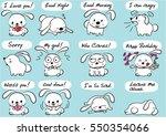 cartoon rabbit set | Shutterstock .eps vector #550354066