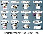 cartoon puppy set   Shutterstock .eps vector #550354228