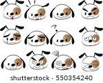 cartoon puppy set   Shutterstock .eps vector #550354240