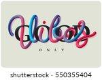 vector lettering. motivational... | Shutterstock .eps vector #550355404