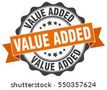 value added. stamp. sticker.... | Shutterstock .eps vector #550357624