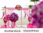 beach wedding setup   Shutterstock . vector #550359943