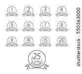 warranty icon  years warranty... | Shutterstock .eps vector #550363000