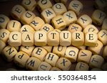 capture word written on wood... | Shutterstock . vector #550364854