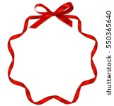 vector frame with bow and red... | Shutterstock .eps vector #550365640