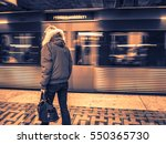 urban woman in the subway  | Shutterstock . vector #550365730