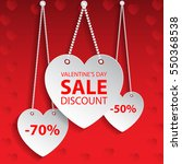 valentines day heart sale tag.  ... | Shutterstock .eps vector #550368538