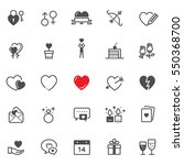 valentine's day icons with... | Shutterstock .eps vector #550368700