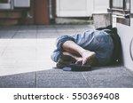 Homeless. Homeless Man Sleeps...