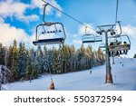 ski resort on kopaonik mountain ... | Shutterstock . vector #550372594