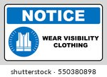 wear high visibility clothing.... | Shutterstock .eps vector #550380898