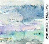 watercolor wash turcuoise grey... | Shutterstock . vector #550384240
