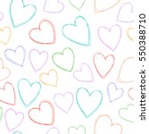 romantic seamless pattern with... | Shutterstock .eps vector #550388710