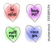 decorative hand drawing hearts... | Shutterstock .eps vector #550389154