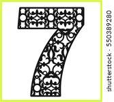 Laser Cut Vector Number Seven...
