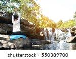 Asian Women Yoga In Nature Nea...