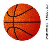basketball ball over white...   Shutterstock .eps vector #550392160