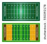 american football fields. set.... | Shutterstock .eps vector #550392178