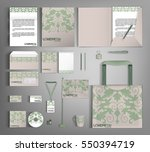 trendy corporate identity... | Shutterstock .eps vector #550394719