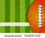 american football field and... | Shutterstock .eps vector #550397143
