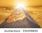 image of the great pyramids of... | Shutterstock . vector #550398850