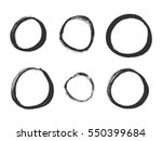 hand drawn circles. set of... | Shutterstock .eps vector #550399684