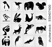 Set Of Animals Icons. Penguin ...