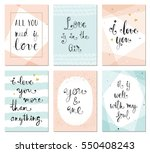 valentine's  minimalistic ... | Shutterstock .eps vector #550408243