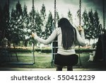 woman sitting on the swing... | Shutterstock . vector #550412239