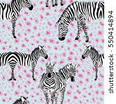 seamless pattern of zebra... | Shutterstock .eps vector #550414894