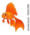 smiling goldfish isolated on... | Shutterstock .eps vector #55041988