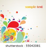 colorful background shapes | Shutterstock .eps vector #55042081