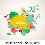 colorful background elements | Shutterstock .eps vector #55042096