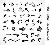 hand drawn arrows  vector set | Shutterstock .eps vector #550421563