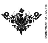 vintage baroque ornament retro... | Shutterstock .eps vector #550422448