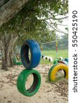 school playground made by... | Shutterstock . vector #550425190