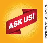 ask us arrow tag sign. | Shutterstock .eps vector #550426828