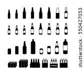beer bottle and beercan... | Shutterstock .eps vector #550427053